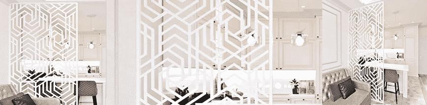 Інтер'єрні перегородки Паскевич, геометричний візерунок для перегородки