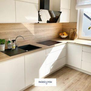 Біла кухня, купити меблі софіно, мінімалістичні меблі на замовлення, сфера меблі кухні. Кутова кухня