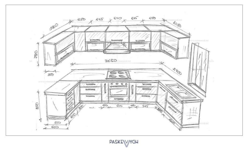 макет кухні